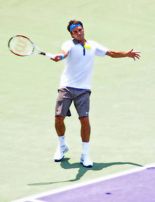 Federer Photograph - A Hug From Roger by Steven Sparks