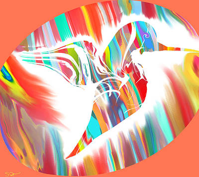 Soulful Eyes Digital Art - A Hummingbird's Eye For Nature by Abstract Angel Artist Stephen K