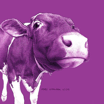 Milk Drawing - A Is For Abby 3 by Lorraine Zaloom