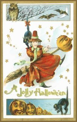 A Jolly Halloween Print by Unknown