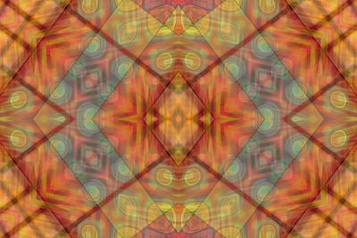 A Kaleidoscope Of Colors Print by Gina Lee Manley