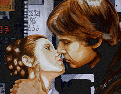 War Painting - A Kiss From A Scoundrel by Al  Molina