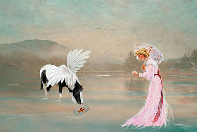 A Lady With Her Fantasy Print by Mary Timman