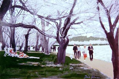 Tidal Basin Painting - A Late Winter Walk by David Zimmerman