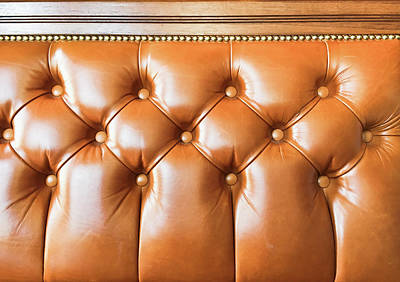 A Leather Seat Print by Tom Gowanlock