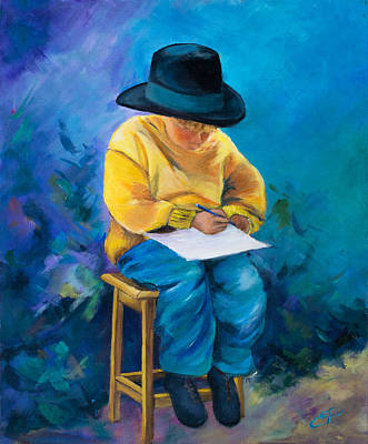 Mums Painting - A Letter For Mom by Elise Palmigiani