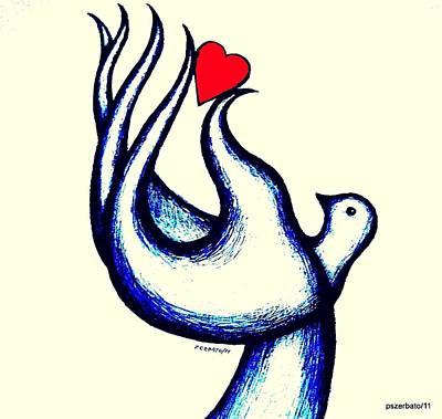 A Little Love Print by Paulo Zerbato