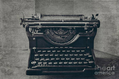 Typewriter Keys Photograph - A Loss Of Words by Emily Kay