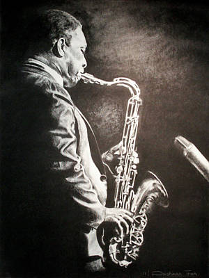 Saxophone Drawing - A Love Supreme by Dashaan V Tran