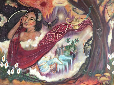 Magic Carpet Ride Painting - A Magic Carpet Of Oriental Imagery - Aries 19 2016 by Christine Vincent