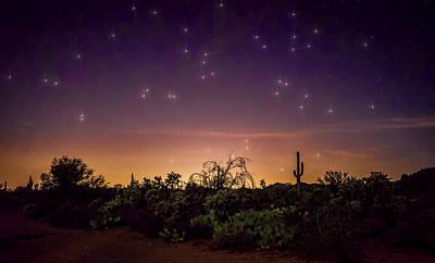 A Magical Desert Night  Print by Saija  Lehtonen
