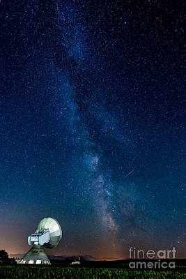 Technical Photograph - A Magical Night At The Earth Station by Hannes Cmarits