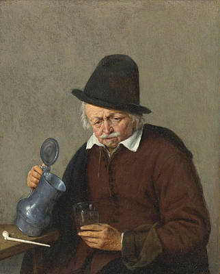 Painting - A Man Holding A Tankard And A Glass by Adriaen van Ostade
