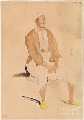 A Man Of Tangier. Print by Eugeene Delacroix