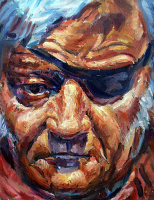 John Wayne Painting - A Man With True Grit by Mark Hartung