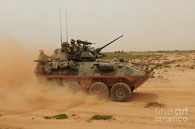 Armored Fighting Vehicles Photograph - A Marine Corps Light Armored Vehicle by Stocktrek Images