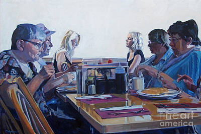 Meal Painting - A Matter Of Time by Deb Putnam