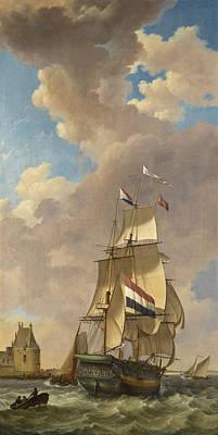 Painting - A Merchantman Off Veere by Johannes Hermanus Koekkoek
