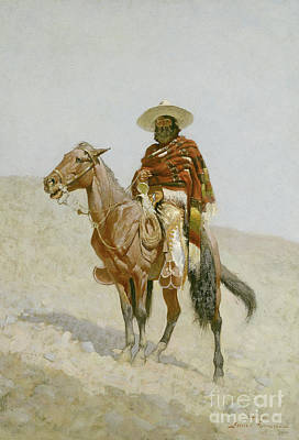 Badlands Painting - A Mexican Vaquero by Frederic Remington