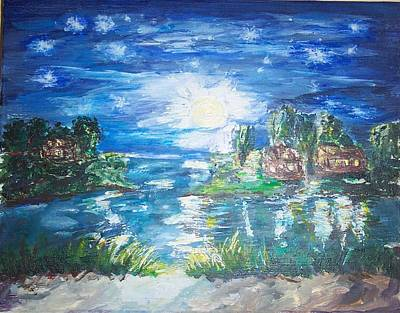 Stars Painting - A Midd Summer Night Dream by Mary Sedici