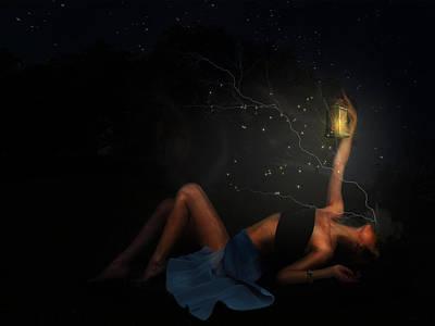 Goddess Digital Art Mixed Media - A Midsummer Nights Dream by Terry Fleckney