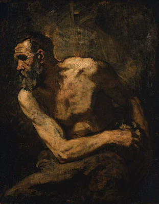 Old Painting - A Miser Study For Timon Of Athens by MotionAge Designs