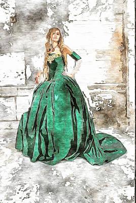 Photograph - A Model In Watercolor by Mario Carini