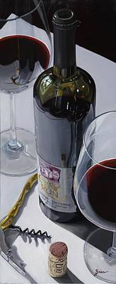 Virginia Wine Painting - A Moment Of Reflection by Brien Cole