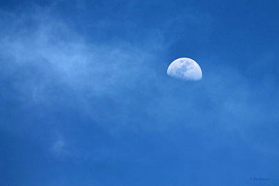 Man In The Moon Photograph - A Moon For Sapphire by Sabrina Wheeler