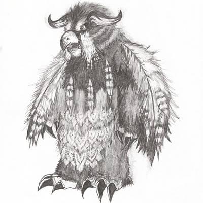 Drawing - Moonkin by Kayla Sheree
