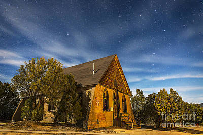 Silver Moonlight Photograph - A Moonlit Nightscape Of The Historic by Alan Dyer