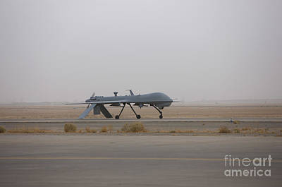 Cob Speicher Photograph - A Mq-1c Warrior Taxis Out To The Runway by Terry Moore
