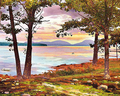 Maine Mountains Painting - A New Day by Ernestine Grindal