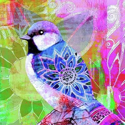 Garden Photograph - A New Little Digital Bird by Robin Mead