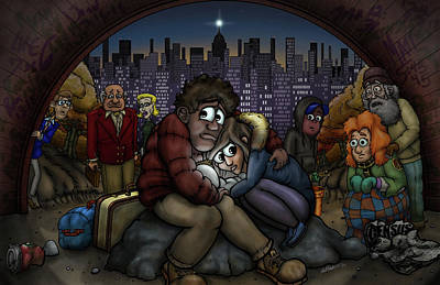 Incarnation Digital Art - A New York City Nativity by Adam Nettesheim