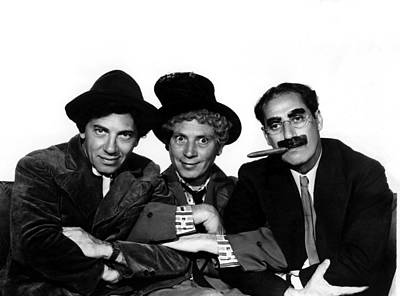 Groucho Marx Photograph - A Night At The Opera, Chico Marx, Harpo by Everett