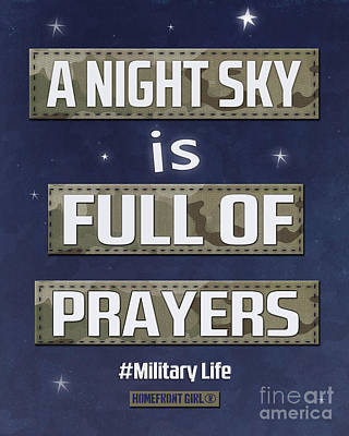 A Night Sky Is Full Of Prayers Print by Gaby Juergens
