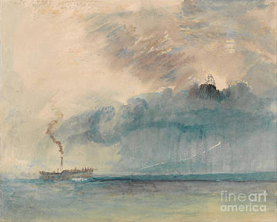 Storm Drawing - A Paddle-steamer In A Storm by Celestial Images