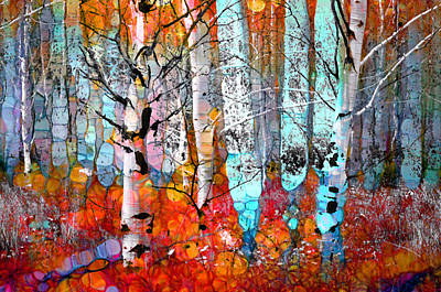 A Party In The Forest Print by Tara Turner