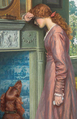 Woman Crying Painting - A Passing Cloud by Arthur Hughes