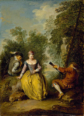 Jean-baptiste Pater Painting - A Pastoral Concert by Jean-Baptiste Pater