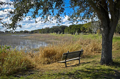 Park Benches Photograph - A Peaceful Place by Carolyn Marshall