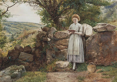 A Peaceful Read Print by George Goodwin