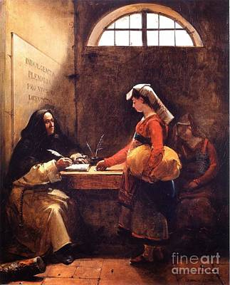 Marius Painting - A Peasant Girl Buying An Indulgence by MotionAge Designs