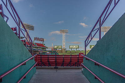 Fenway Park Photograph - A Peek At The Monstah by Bryan Xavier