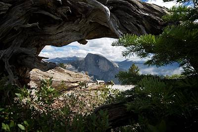 Yosemite National Park Digital Art - A Peek Of Half Dome  by Chris  Brewington Photography LLC