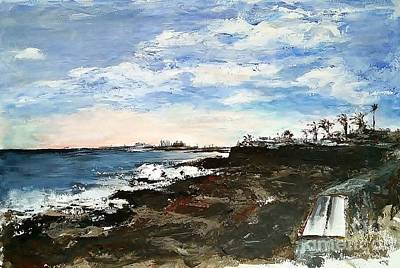 Lanzarote Painting - A Place To Sit by Karina Plachetka