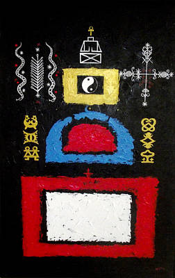 Vodou Painting - A Plea For Religious Tolerance by Sela Adjei