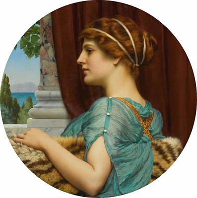 John William Godward Painting - A Pompeian Lady by John William Godward