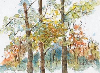A Poplar Treeo Print by Pat Katz
